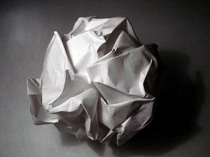crumbled paper