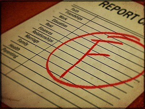 failed report card